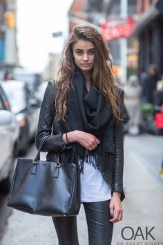 leather love. #TaylorMarieHill #offduty in NYC.