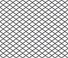 Moroccan quatrefoil, midnight and white fabric by su_g on Spoonflower - custom fabric