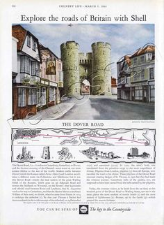 1964 Shell Guide to the Dover Road. Artist: David Gentleman
