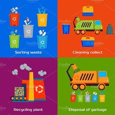 nice Cleaning and sorting of garbage  CreativeWork247 - Fonts, Graphics, Th...