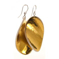porcelain and gold earrings