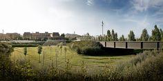 Linear park on the Riera De Sant Climent. Viladecans