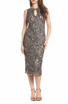 fa6dc977739 Pisarro Nights Beaded Pencil Dress (Regular   Petite) Mob Dresses