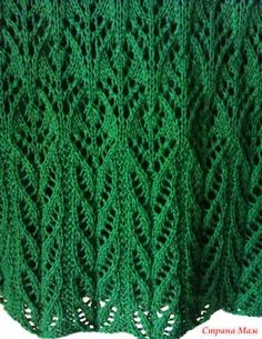 ". Туника ""Мой малахит"" Lace Knitting Patterns, Loom Knitting, Knitting Stitches, Free Knitting, Stitch Patterns, Pull, Free Pattern, Knit Crochet, Diy And Crafts"