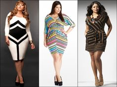 Bodycon dresses for Plus Size Women: Play with colors and prints, while optical illusions can draw more attention to the center of your body...