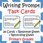This package contains 28 task cards with fun writing prompts for primary grades (1-5), a task card recording sheet and a task card response sheet. ...