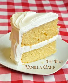 The Best Vanilla Cake
