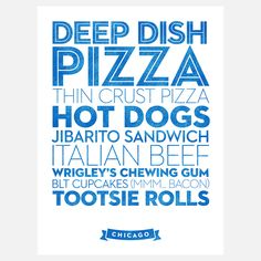 City-themed Food Posters: Chicago