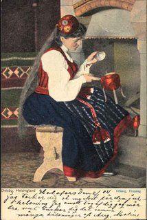 Delsbo, Hälsingland Vintage Postcards, Vintage Photos, Folk Costume, Costumes, Swedish American, Swedish Fashion, Scandinavian Christmas, Beautiful Landscapes, Sweden