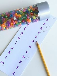 Sensory bottles: seek and find alphabet letters. Alphabet Activities For 3 year olds - No Time For Flash Cards 3 Year Old Activities, Letter Activities, Sensory Activities, Classroom Activities, Preschool Activities, Sensory Diet, Family Activities, Outdoor Activities For Preschoolers, Sensory Bottles Preschool