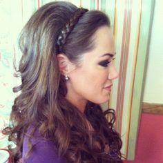 cHAIRish The Day… Hair & Makeup - San Antonio Hair and Makeup - Long, soft curls with braid headband