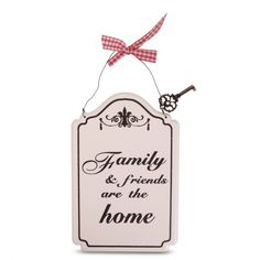 Decorative Metal Sign 'Family & Friends Are The Home' £6.99
