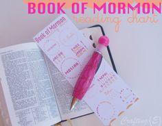 Book of Mormon Reading Chart Bookmark {free printable}