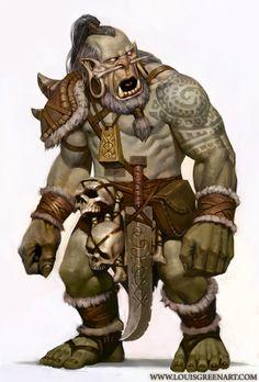 Troll Shaman By Louis Greenhttp://louisgreen.deviantart.com/
