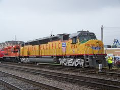 The last functional/running EMD DD40AX Locomotive owned/operated by Union Pacific Railroad; Railfest 2011.  Largest diesel locomotive ever built in the United States of America.