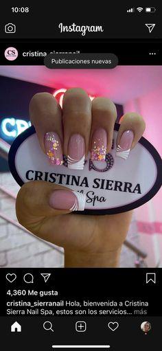 Perfect Nails, Gorgeous Nails, Pretty Nails, Classy Nail Designs, Short Nail Designs, Super Cute Nails, Simple Acrylic Nails, Classy Nails, French Nails