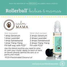 Calm Mama :: Rollerball Babies & Mamas Make & Take Workshop Kit #essentialoils #recipe #rollerballs #calm #mood #newmom #makeandtake #kit