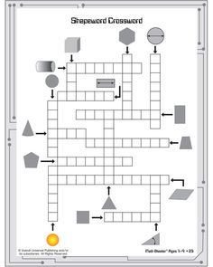 Shapeword Crossword is a crossword puzzle with pictures for clues.  sc 1 st  Pinterest & Zahlenrätsel onlineZahlen Kreuzwort puzzle | Word Games Puzzles ... 25forcollege.com