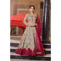 Buy Gowns - Discover the wide range of designer gowns online Silk Anarkali Suits, Long Anarkali, Anarkali Dress, Lehenga, Salwar Suits, Gown Dress Online, Gowns Online, Abaya Fashion, Suit Fashion