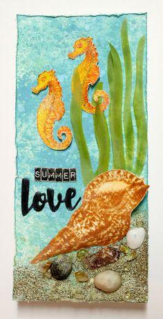 Scrap Savvy Creations Atc Cards, Summer Of Love, Canvases, Emerald, Mixed Media, Scrap, Paper Crafts, Symbols, Art