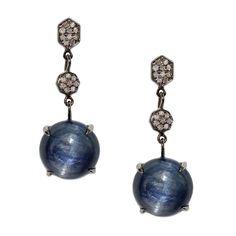 Emily Earrings Silver Kyanite