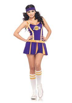 NBA L.A. Lakers Sexy Cheerleader Uniform Costume Adult