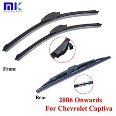Combo Silicone Rubber Front And Rear Wiper Blades For Chevrolet Captiva 2006 Onwards Windscreen  Wipers Auto Car Accessories. Yesterday's price: US $19.99 (17.52 EUR). Today's price: US $13.39 (11.75 EUR). Discount: 33%.