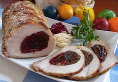 Roasted pork loin with prunes ...