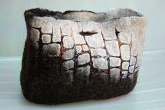 Felt Bag by irit dulman, via Flickr  Love the texture effect