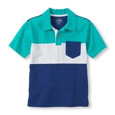 Stylish colors add character to this classic polo look!