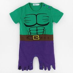 8b944d3bc53 Baby Boys Hulk Costume Romper Baby Halloween Costumes For Boys