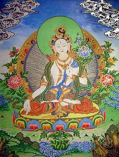 buddist paintings   Buddhist Tibetan Art White Tara From LG Enterprises Buddhist Art ...