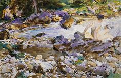 Mountain Stream, ca. 1912–14  John Singer Sargent (American, 1856–1925)  Watercolor and graphite
