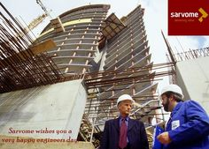 Nothing can be of great worth or holy which is the work of builders and mechanics. – Zeno, Stoic Philosopher. Happy Engineers Day !!!  Luxury Living - The Presidio, Sector 31, Faridabad   www.sarvome.com
