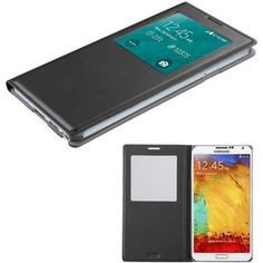 Book-Style Smart Cover w/ IC Chip Samsung Galaxy Note 3 Case - Black