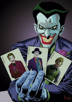 Joker Batman the animated series with cardsby Shinnh