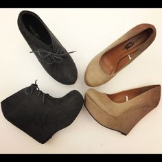 Own the tan wedge pumps in black. Love them