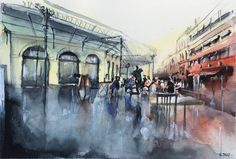 place des Chartrons. #drawing #watercolor #painting #art