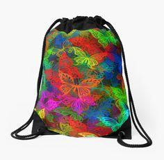 """Рюкзак с принтом """"Разноцветные бабочки"""""""