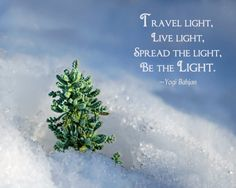 Inspirational quote about being the Light.