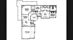 L shaped house plans l shaped ranch house plans, house. House Plans 3 Bedroom, Cottage Floor Plans, House Floor Plans, Contemporary Style Homes, Contemporary House Plans, L Shaped House Plans, Bedroom Sitting Room, Monster House Plans, Flex Room