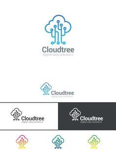 Tree Cloud computing Logo Storage. Logo Templates. $15.00