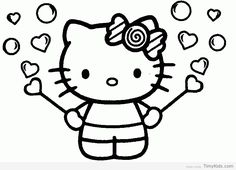 Photos Coloring Hello Kitty Printable Pages On Large Free Print