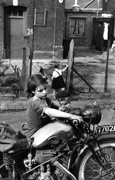 La Petite Fille à La Moto, 1954 Photo By Jean Philippe Charbonnier