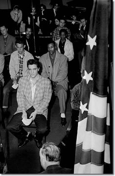 Elvis Presley On The Day Of His Induction Into The Army March 24, 1958. After Reporting For Duty About 6:30 A.M. At The Draft Board Office - Long Day