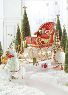 Let our Patience Brewster Dash Away Sleigh Scene add some whimsy to your holiday decor.