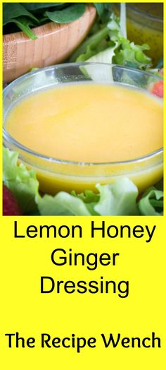 Lemon honey ginger dressing will wake up those tastebuds. Takes only 5 minutes and you have a fresh, sweet-tangy dressing to liven up your salad!