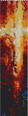 Oeil de Feu Peyote Cuff Pattern by LaceOfPearls on Etsy