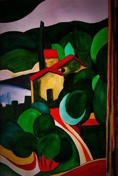 """AQUARELLE SECHE """"CEVENNES"""" RESERVEE grand format 50x65cm : Peintures par danyrocherleroi"""