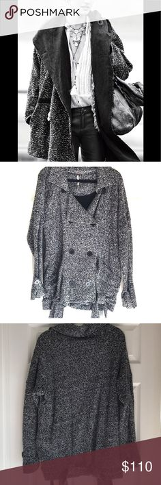 Free People Knit Coat Great winter coat from FP. This is a heavier jacket outside is a Knit French Terry and it's lined inside with a cotton. Barely worn, maybe 5 times Free People Jackets & Coats Pea Coats